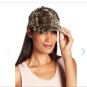NEW Velvet Cap Army Green Lace-Up NWT hat Cute!!
